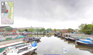 Hawne Basin, Dudley No. 2 Canal, Birmingham Canals - screenshot of an interactive panorama