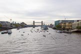 Lord Mayor's Show 2013: The Lord Mayor's flotilla approaching Tower Bridge. Photo: Mike Garland..     on 09 November 2013 at 09:20, image #43