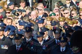 Remembrance Sunday Cenotaph March Past 2013: Waiting for the March Past to begin.. Press stand opposite the Foreign Office building, Whitehall, London SW1, London, Greater London, United Kingdom, on 10 November 2013 at 11:25, image #7