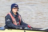 The Boat Race season 2012 - fixture CUBC vs Leander: OUBC cox Zoe de Toledo.. River Thames between Putney and Molesey, London, Greater London, United Kingdom, on 10 March 2012 at 13:06, image #11
