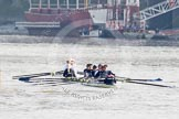 The Boat Race season 2012 - fixture CUBC vs Leander: g. River Thames between Putney and Molesey, London, Greater London, United Kingdom, on 10 March 2012 at 13:08, image #14