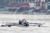 The Boat Race season 2012 - fixture CUBC vs Leander. River Thames between Putney and Molesey, London, Greater London, United Kingdom, on 10 March 2012 at 13:08, image #15