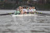 The Boat Race season 2012 - fixture CUBC vs Leander: CUBC Blue Boat: Cox Ed Bosson, stroke Niles Garratt, Alex Ross, Steve Dudek, Alexander Scharp, Jack Lindeman, Mike Thorp, David Nelson, and bow Moritz Schramm.. River Thames between Putney and Molesey, London, Greater London, United Kingdom, on 10 March 2012 at 14:04, image #66