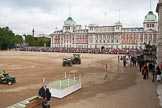 Trooping the Colour 2009: Preparing Horse Guards Parade. On the right the Old Admirality Building, on it's left the Citadel.. Horse Guards Parade, Westminster, London SW1,  United Kingdom, on 13 June 2009 at 09:44, image #13