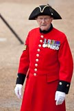 Trooping the Colour 2009: A Chelsea Pensioner arriving to watch the event.. Horse Guards Parade, Westminster, London SW1,  United Kingdom, on 13 June 2009 at 09:38, image #11