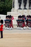 The Major General's Review 2011: The Band of the Scots Guards, here the pipers, marching past the Guards Memorial on the way to Horse Guards Parade.. Horse Guards Parade, Westminster, London SW1, Greater London, United Kingdom, on 28 May 2011 at 10:31, image #53