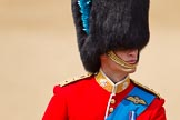 Trooping the Colour 2011: Close-up of HRH Prince William, The Duke of Cambridge, Colonel Irish Guards.. Horse Guards Parade, Westminster, London SW1, Greater London, United Kingdom, on 11 June 2011 at 11:07, image #170