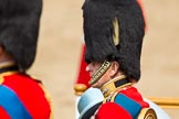 Trooping the Colour 2011: Close-up of HRH Prince Philip, The Duke of Edinburg, with HM The Queen on their seats on the saluting base.. Horse Guards Parade, Westminster, London SW1, Greater London, United Kingdom, on 11 June 2011 at 11:09, image #175