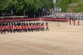 Trooping the Colour 2011: The Massed Bands, under the command of Senior Drum Major Ben Roberts, playing 'Les Huguenots' by Meyerbeer.. Horse Guards Parade, Westminster, London SW1, Greater London, United Kingdom, on 11 June 2011 at 11:10, image #177