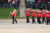 The Colonel's Review 2012: The Band of the Welsh Guards marching along the St James's Park side of Horse Guards Parade, led by Senior Drum Major M Betts, Grenadier Guards.. Horse Guards Parade, Westminster, London SW1,  United Kingdom, on 09 June 2012 at 10:10, image #15