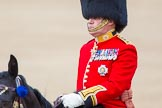 Trooping the Colour 2013: Colonel Coldstream Guards General Sir James Bucknall during the Inspection of the Line.. Horse Guards Parade, Westminster, London SW1,  United Kingdom, on 15 June 2013 at 11:02, image #318