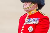 Trooping the Colour 2013: Close-up of Colonel Coldstream Guards General Sir James Bucknall during the Inspection of the Line.. Horse Guards Parade, Westminster, London SW1,  United Kingdom, on 15 June 2013 at 11:02, image #319