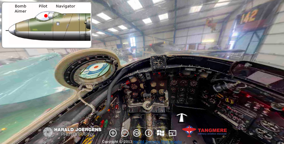 English Electric Canberra Virtual Tour - cockpit ... B2 Cockpit Panorama