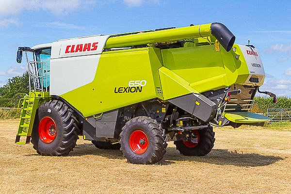 Claas Lexion 650 Combine Harvester during the photography work for an interactive panorama of the cabin