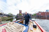 "BCN Marathon Challenge 2013: Skipper Charley on board of NB ""Felonious Mongoose"", at Old Street Junction in the centre of Birmingham.. Birmingham Canal Navigation,   United Kingdom, on 25 May 2013 at 07:53, image #23"