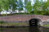 BCN Marathon Challenge 2013: The bridge carries the towpath over the Cape Arm, another loop of the Old Main Line. The whole of the Cape Arm is now within the GKN Works, and blocked by the guillotine gate seen in the image.. Birmingham Canal Navigation,   United Kingdom, on 25 May 2013 at 08:42, image #75