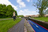 BCN Marathon Challenge 2013: Skipper Charley at Smethwick Bottom lock on the BCN Old Main Line.. Birmingham Canal Navigation,   United Kingdom, on 25 May 2013 at 09:04, image #91