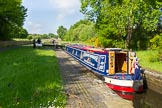 "BCN Marathon Challenge 2013: Narrowboat ""Felonious Mongoose"" rising in Smethwick Lock No. 2.. Birmingham Canal Navigation,   United Kingdom, on 25 May 2013 at 09:11, image #95"