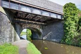BCN Marathon Challenge 2013: Brasshouse Lane Bridge in the Old Main Line, close to the junction with the Engine Branch and the Smethwick locks. The old canal bridge has been widened significantly to cope with today's traffic.. Birmingham Canal Navigation,   United Kingdom, on 25 May 2013 at 09:26, image #104