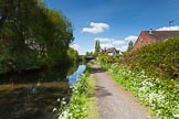 "BCN Marathon Challenge 2013: The Titford Canal -the ""New Navigation"" pub is on the right of the bridge and close to the current end of navigation at Titford Pool.. Birmingham Canal Navigation,   United Kingdom, on 25 May 2013 at 11:24, image #156"