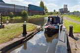 "BCN Marathon Challenge 2013: NB ""Felonious Mongoose"" at Oldbury Top Lock on the Titford Canal, on the way back from from Titford Pools to the BCN Old Main Line.. Birmingham Canal Navigation,   United Kingdom, on 25 May 2013 at 11:42, image #164"