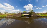 BCN Marathon Challenge 2013: A factory bridge that once led a basin at Blue Brick Works, on the BCN New Main Line between Bromford Junction and Pudding Green Junction.. Birmingham Canal Navigation,   United Kingdom, on 25 May 2013 at 13:11, image #183