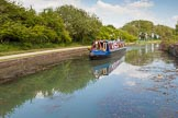 "BCN Marathon Challenge 2013: NB ""Firefly"", also taking part in the BCN Marathon Challenge, on the Bradley Branch, the old Wednesbury Oak Loop.. Birmingham Canal Navigation,   United Kingdom, on 25 May 2013 at 15:51, image #223"
