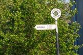 "BCN Marathon Challenge 2013: BCNS signpost at Pudding Green Junction: ""Walsall 7 1/2 miles 8 locks"".. Birmingham Canal Navigation,   United Kingdom, on 25 May 2013 at 18:55, image #300"