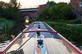 BCN Marathon Challenge 2013: Evening on the Walsall Canal approaching Holyhead Road Bridge, with a railway bridge behind.. Birmingham Canal Navigation,   United Kingdom, on 25 May 2013 at 21:03, image #312