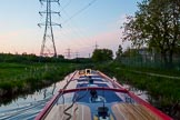 "BCN Marathon Challenge 2013: Fading daylight, at 9:20pm, on the Walsall Canal in Darlaston, with additional light installed on board of NB ""Felonious Mongoose"".. Birmingham Canal Navigation,   United Kingdom, on 25 May 2013 at 21:19, image #314"