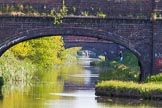 BCN Marathon Challenge 2013: Three bridges in a row on the Cannock Extension Canal - Walsall Common, Pelsall Common, and Green Bridge.. Birmingham Canal Navigation,   United Kingdom, on 26 May 2013 at 08:15, image #364
