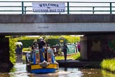 "BCN Marathon Challenge 2013: ""Welcome to Longwood Boat Club"": Longwood Bridge on the Daw End Branch, the ""finish line"" of the BCN Marathon Challenge.. Birmingham Canal Navigation,   United Kingdom, on 26 May 2013 at 14:06, image #414"