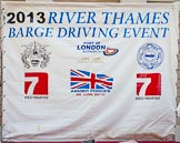 TOW River Thames Barge Driving Race 2013: The presentation stage at Greenwich College Gardens.. River Thames between Greenwich and Westminster, London,  United Kingdom, on 13 July 2013 at 09:42, image #12