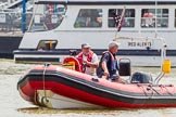 TOW River Thames Barge Driving Race 2013: ???Race officials???. River Thames between Greenwich and Westminster, London,  United Kingdom, on 13 July 2013 at 12:33, image #90