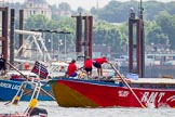 "TOW River Thames Barge Driving Race 2013: Barge ""Darren Lacey"", by Princess Pocahontas, and barge ""Jane"", by the RMT Union.. River Thames between Greenwich and Westminster, London,  United Kingdom, on 13 July 2013 at 12:50, image #230"