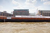 "TOW River Thames Barge Driving Race 2013: GPS Marine barge ""Barge 1902"" moored in front of Butler' Wharf.. River Thames between Greenwich and Westminster, London,  United Kingdom, on 13 July 2013 at 13:38, image #371"