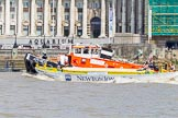 "TOW River Thames Barge Driving Race 2013: GPS Marine tug ""GPS Vincia"" pulling barge ""Hoppy"", by GPS Fabrication, back from Westminster to Greenwich.. River Thames between Greenwich and Westminster, London,  United Kingdom, on 13 July 2013 at 14:41, image #507"