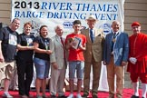 "TOW River Thames Barge Driving Race 2013: The price for the youngest apprentice goes to a member of the crew of barge ""Darren Lacey"", by Princess Pocahontas - J. Smith, aged 16 years and 11 months.. River Thames between Greenwich and Westminster, London,  United Kingdom, on 13 July 2013 at 16:20, image #568"