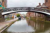 BCN Marathon Challenge 2014: Birmingham & Fazely Canal at Old Turn Junction, with a Horseley Iron Works bridge of 1827, and Tindal Bridge ahead. Birmingham Canal Navigation,   United Kingdom, on 23 May 2014 at 13:33, image #6