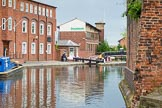 BCN Marathon Challenge 2014: Birmingham & Fazely Canal between Old Turn Junction and Farmers Bridge Locks, with the top lock, and Cambrian Wharf (part of the former Newhall Branch) on the right.. Birmingham Canal Navigation,   United Kingdom, on 23 May 2014 at 13:35, image #10