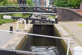 BCN Marathon Challenge 2014: The top lock of 13 Farmers Bridge Locks on the Birmingham & Fazeley Canal, taking the canal 81ft (27m) down to the 372' level.. Birmingham Canal Navigation,   United Kingdom, on 23 May 2014 at 13:38, image #14