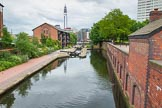 BCN Marathon Challenge 2014: Farmers Bridge locks on the Birmingham & Fazeley Canal, looking down from the top lock.. Birmingham Canal Navigation,   United Kingdom, on 23 May 2014 at 13:44, image #15