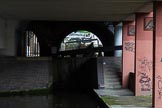 BCN Marathon Challenge 2014: The Birmingham & Fazeley Canal seems to be a gloomy place below Newhall Street in the middle of the Farmers Bridge Locks.. Birmingham Canal Navigation,   United Kingdom, on 23 May 2014 at 14:40, image #29