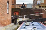 BCN Marathon Challenge 2014: Birmingham & Fazeley Canal, Farmers Bridge Locks: The canal passes under Ludgate Hill Bridge.. Birmingham Canal Navigation,   United Kingdom, on 23 May 2014 at 14:49, image #32