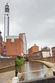 BCN Marathon Challenge 2014: The Birmingham & Fazeley Canal between  Ludgate Hill Brudge and Livery Street Bridge, with old canalside architecture on the right, and modern developments on the right.. Birmingham Canal Navigation,   United Kingdom, on 23 May 2014 at 15:01, image #36