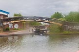 BCN Marathon Challenge 2014: Aston Junction on the Birmingham & Fazeley Canal, seen from Coronation Street Bridge. The Digbeth Branch to the right.. Birmingham Canal Navigation,   United Kingdom, on 23 May 2014 at 15:27, image #43