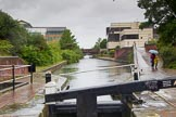BCN Marathon Challenge 2014: On the Digbeth Branch at Ashted Top Lock. The factory bridge was the entrance to Wallis's Arm, leading to Heneage Street Wharf. The arm served also several factories.. Birmingham Canal Navigation,   United Kingdom, on 23 May 2014 at 15:41, image #47