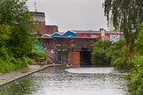 BCN Marathon Challenge 2014: Approaching Digbeth (or Bordesley) Basin (Warwick and Digbeth Wharf) on the Digbeth Branch. Birmingham Canal Navigation,   United Kingdom, on 23 May 2014 at 16:29, image #52