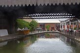 BCN Marathon Challenge 2014: Is it a new basin, or the remains of an old branch or basin? Grand Union Canal near Digbeth Junction and the FMC warehouse. Birmingham Canal Navigation,   United Kingdom, on 23 May 2014 at 16:39, image #63