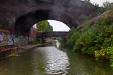 BCN Marathon Challenge 2014: Railway bridge and bridge 95 (Great Barr Street Bridge) on the Grand Union Canal between Digbeth Junction and Bordesley Junction. Birmingham Canal Navigation,   United Kingdom, on 23 May 2014 at 16:39, image #64